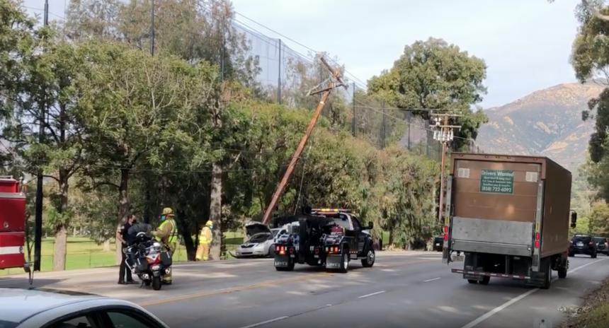 Las Positas Powerline Car crash