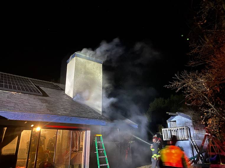 atascadero aurora road chimney fire