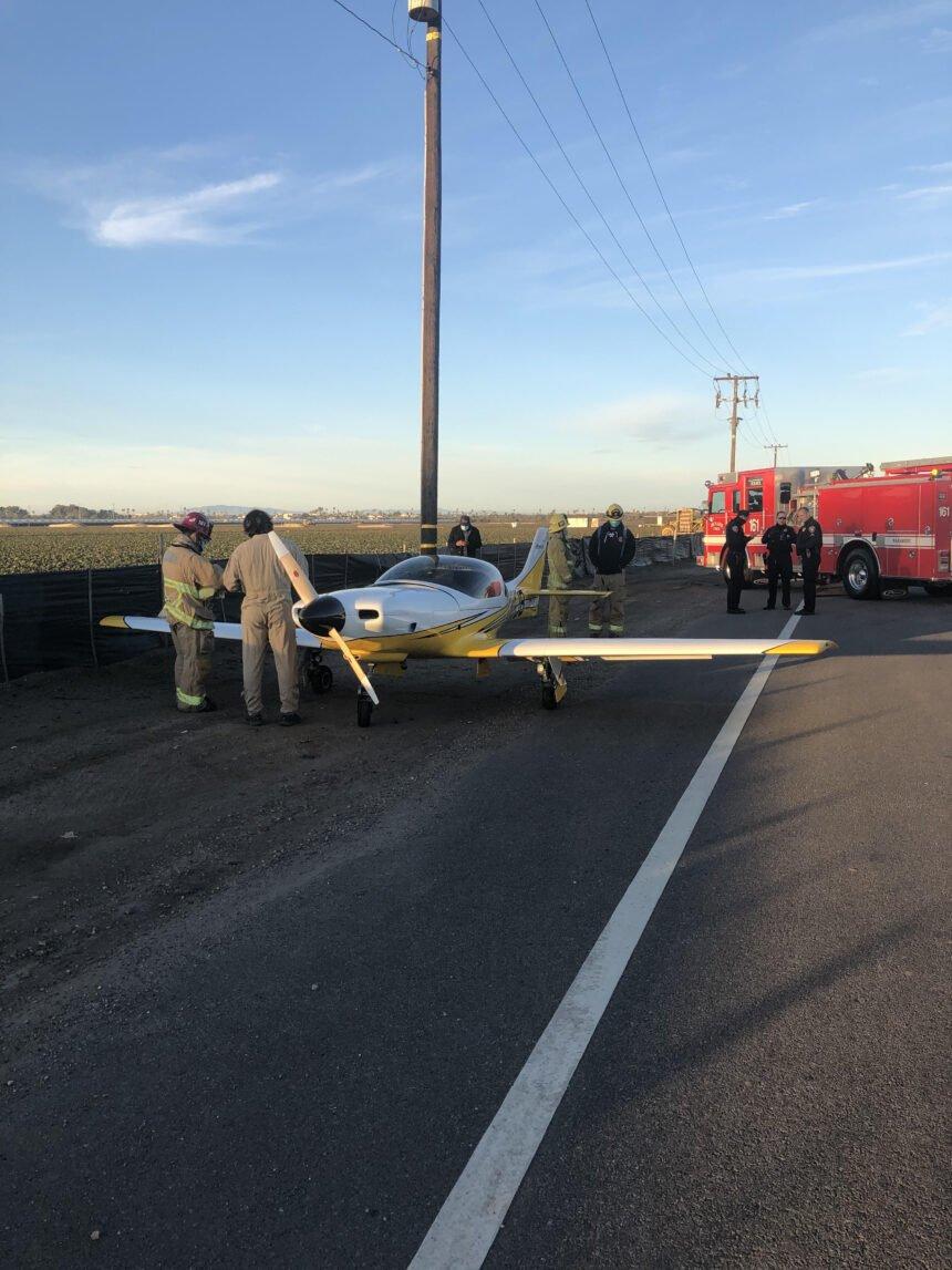 plane emergency landing in oxnard fifth street 1