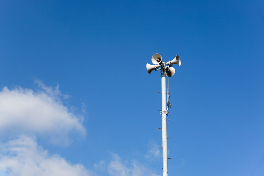slo county early warning system siren growl tests