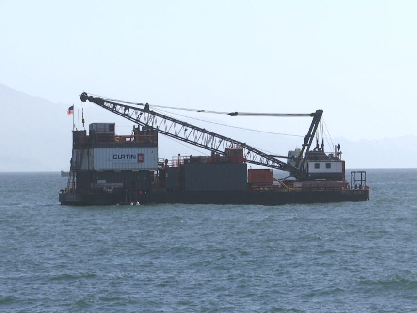 Barge fixing desal piping