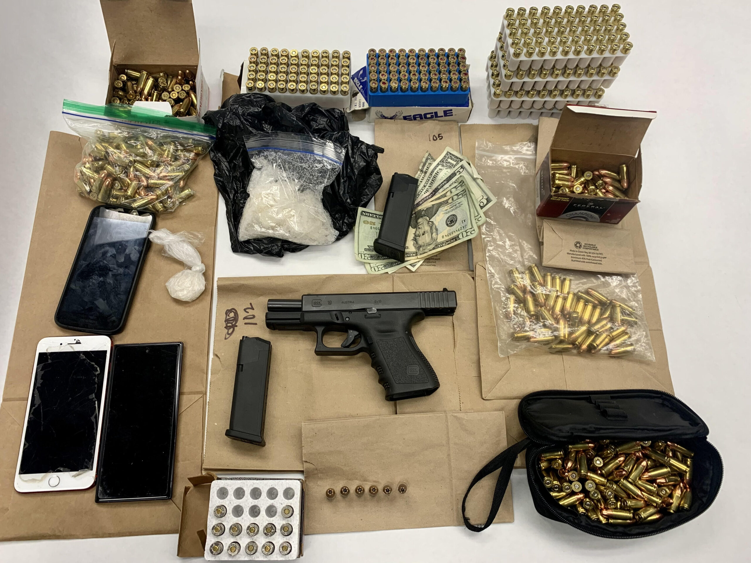 Weapon and ammo seized by police