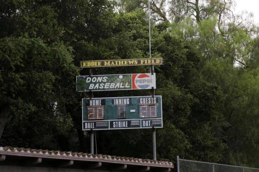 eddie matthews field dons baseball