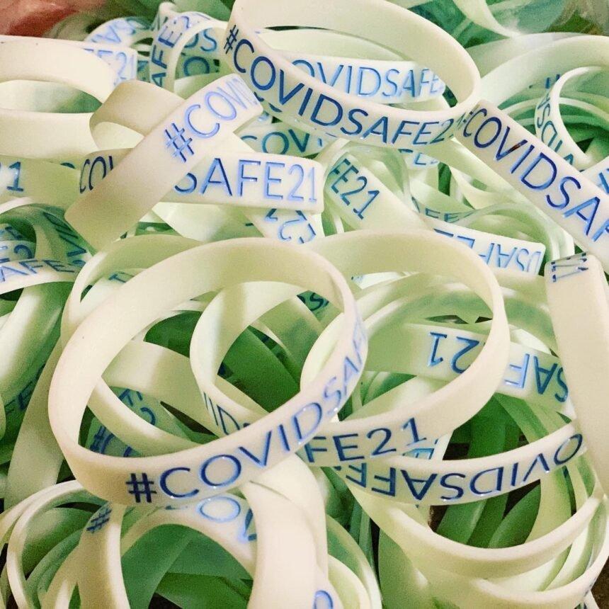 COVIDSAFE21 bracelets