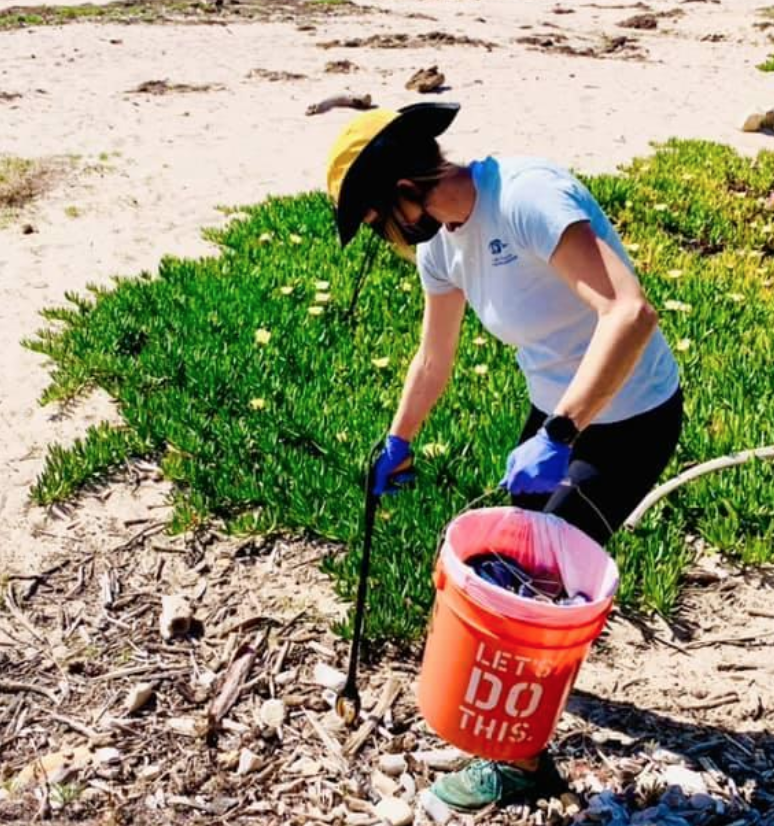 The weekend beach cleanup by volunteers and Santa Barbara Channelkeeper bagged hundreds of pounds of trash. (Photo: Channelkeeper)