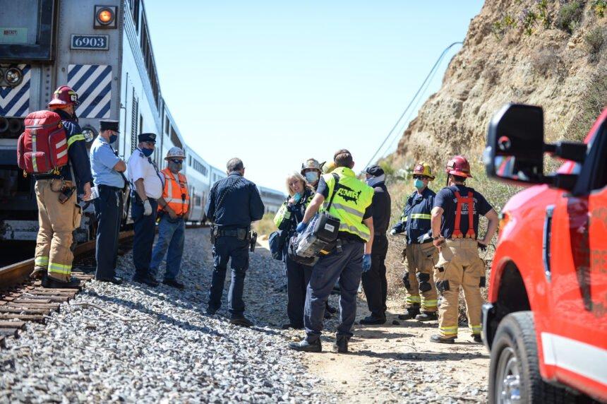Pedestrian death along the tracks in Summerland