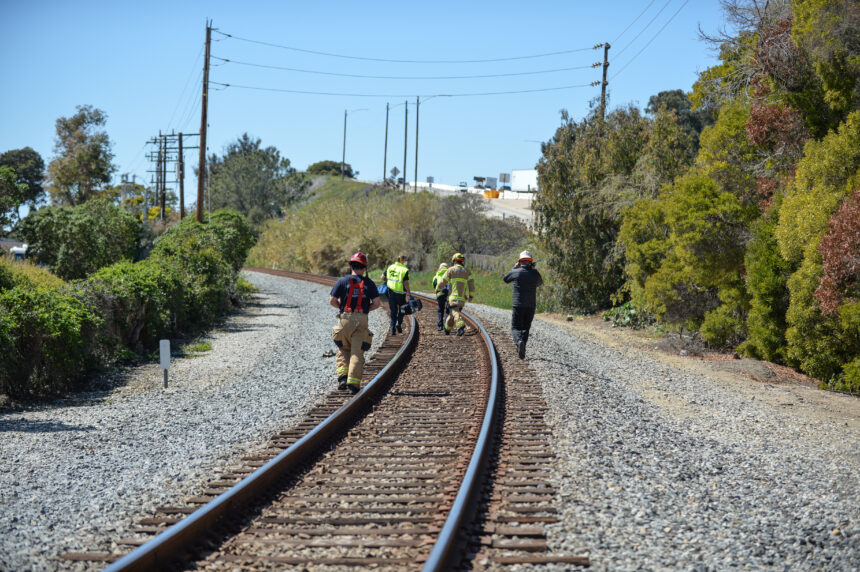 Pedestrian death along the tracks in Summerland