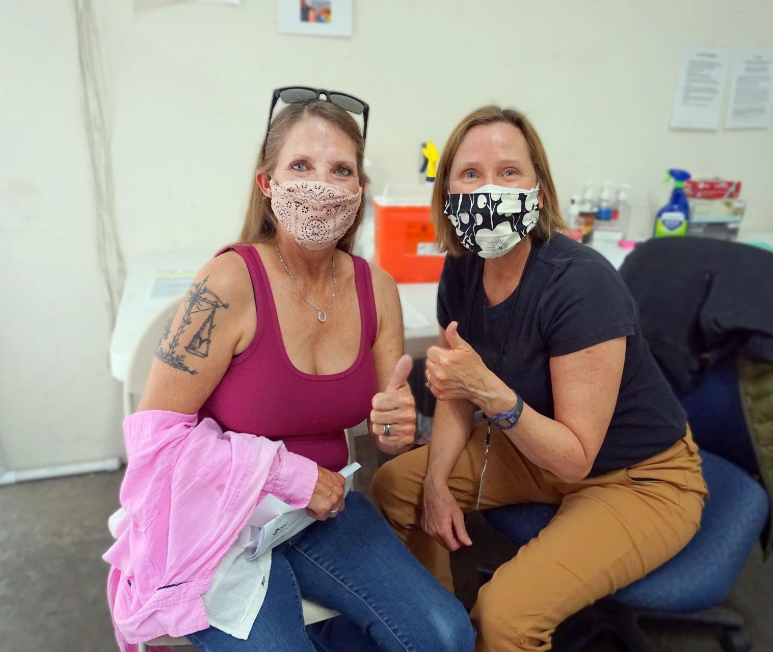 Lucky resident Dawn received SLO County's 100,000th COVID vaccine on Thursday, April 1.