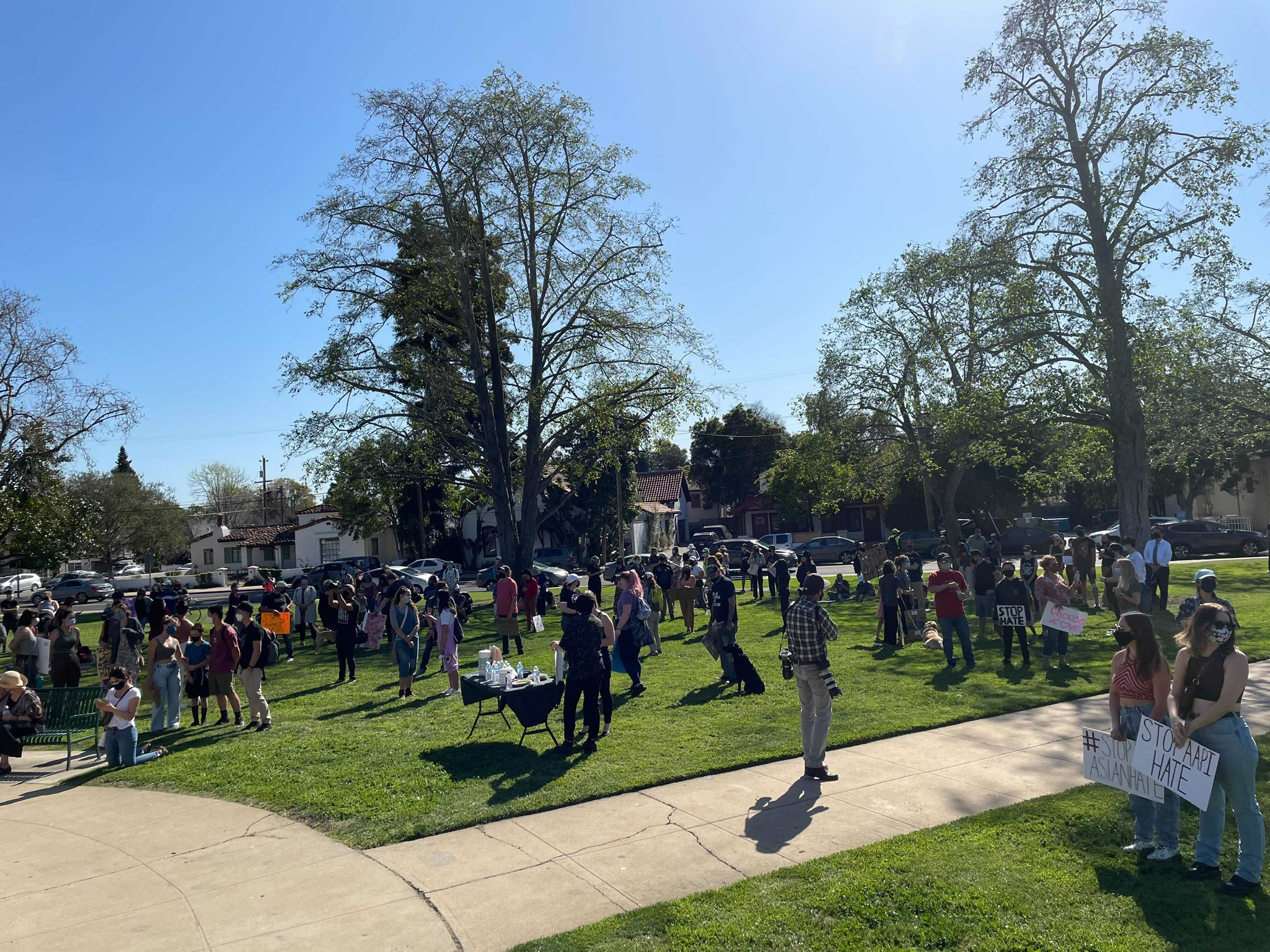 keyt.com: Demonstrators march in downtown SLO to protest rise in violence against Asian Americans and Pacific Islanders