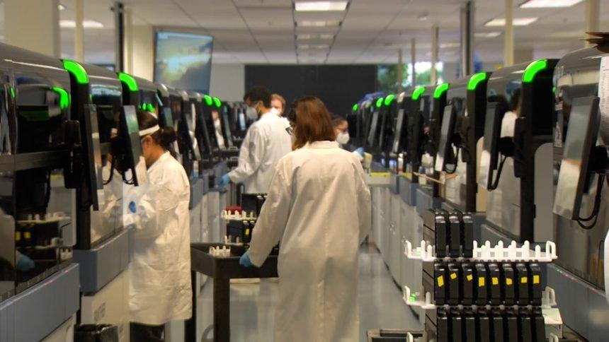 COVID testing lab