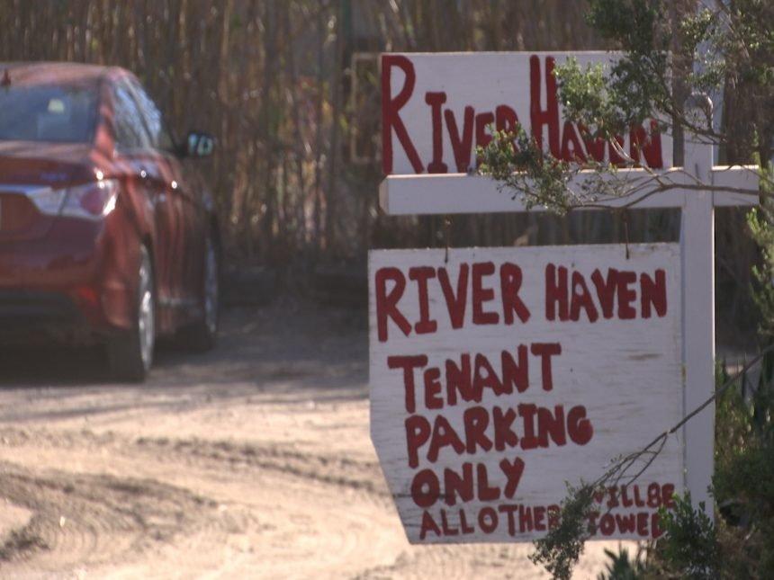 River Haven sign