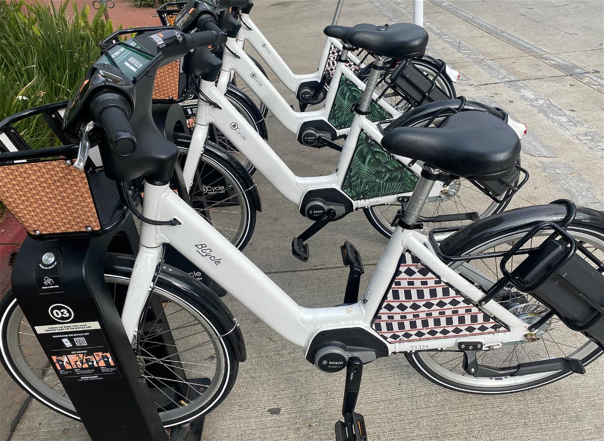 The Bcycle bikes are free in Santa Barbara on Earth Day. (Photo: John Palminteri)