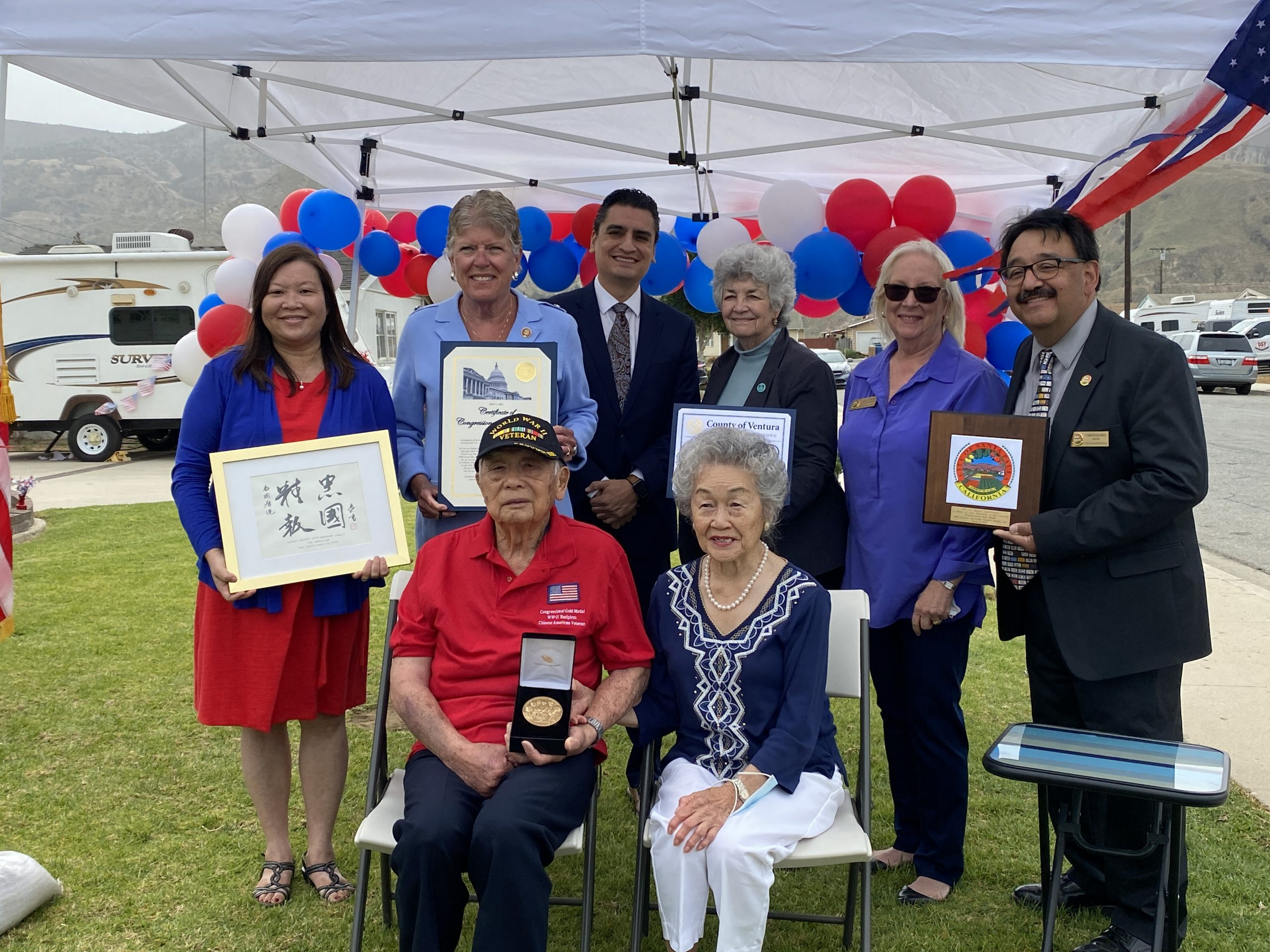 94-year-old Arnold Jue was honored with a Congressional Gold Medal earlier this month. He is the last living Chinese American WWII veteran in Ventura County