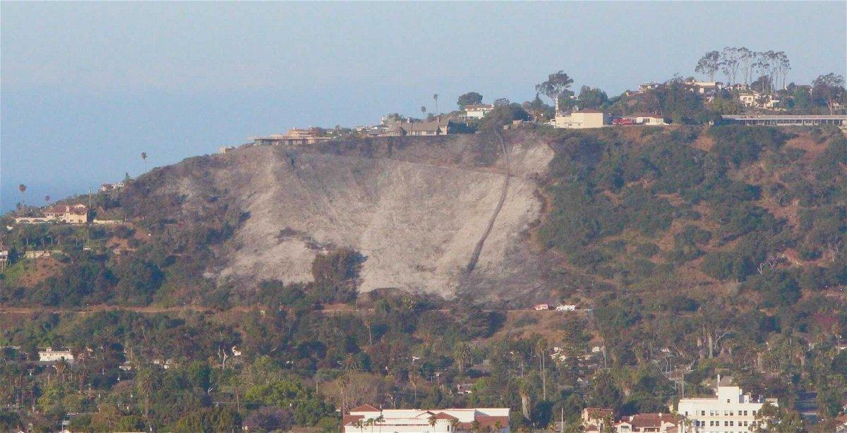 TV Hill burn scar from Loma Fire.  KEYT/John Palminteri