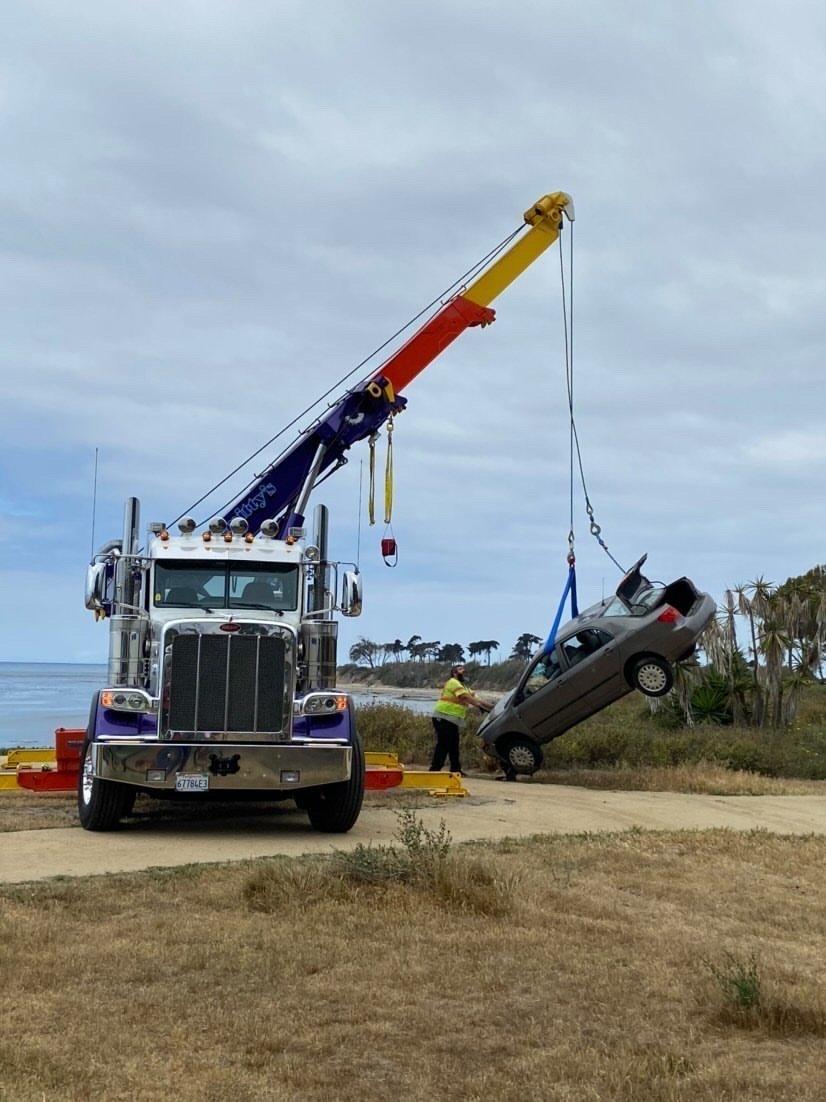 car hoisted isla vista 2
