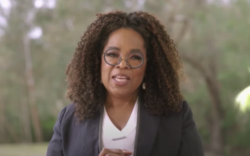 oprah winfrey speaking at UCSB 2021 commencement