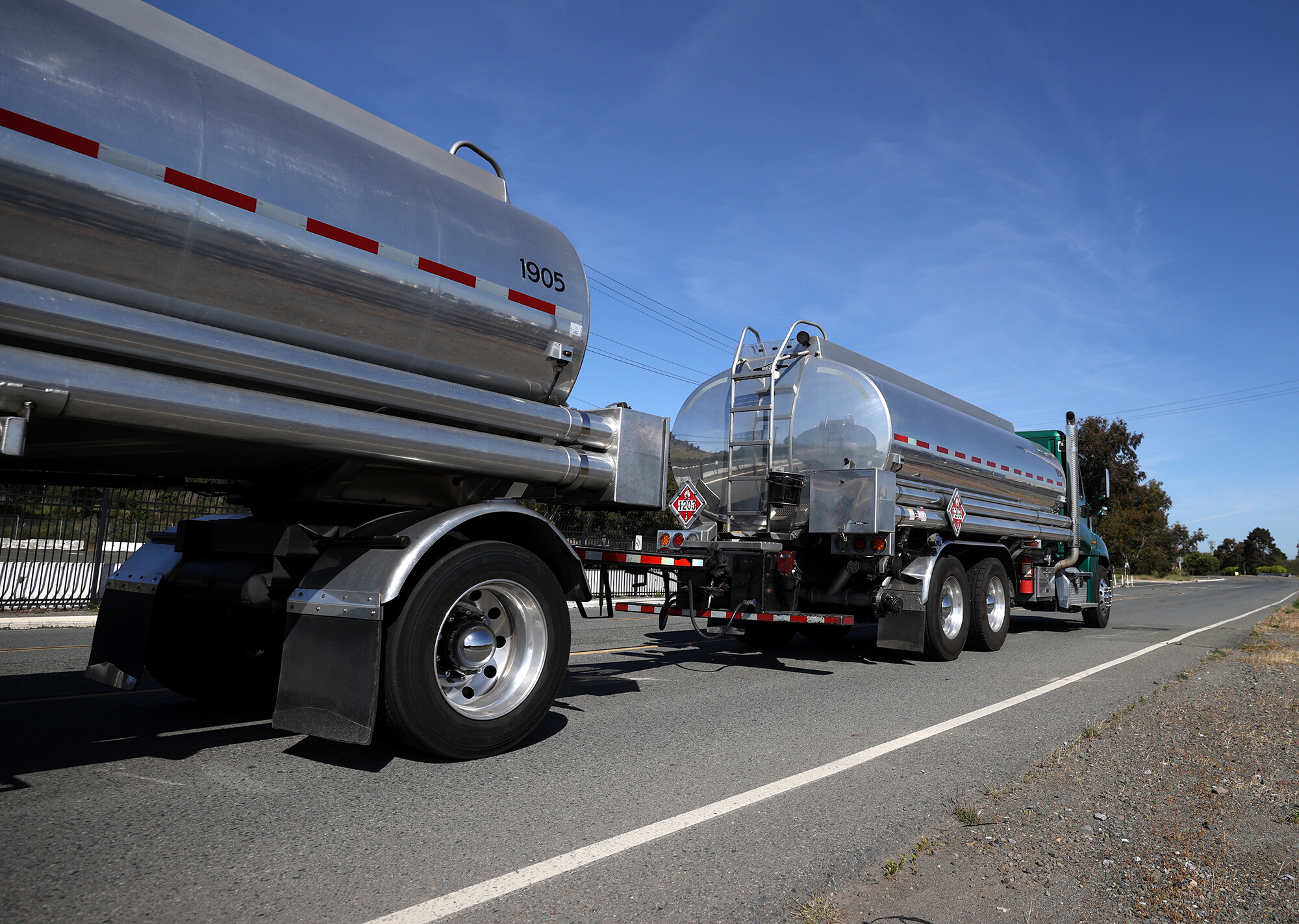 <i>Justin Sullivan/Getty Images</i><br/>It's the shortage of tank truck drivers coupled with rising demand that is causing supply chain bottlenecks and shortages.