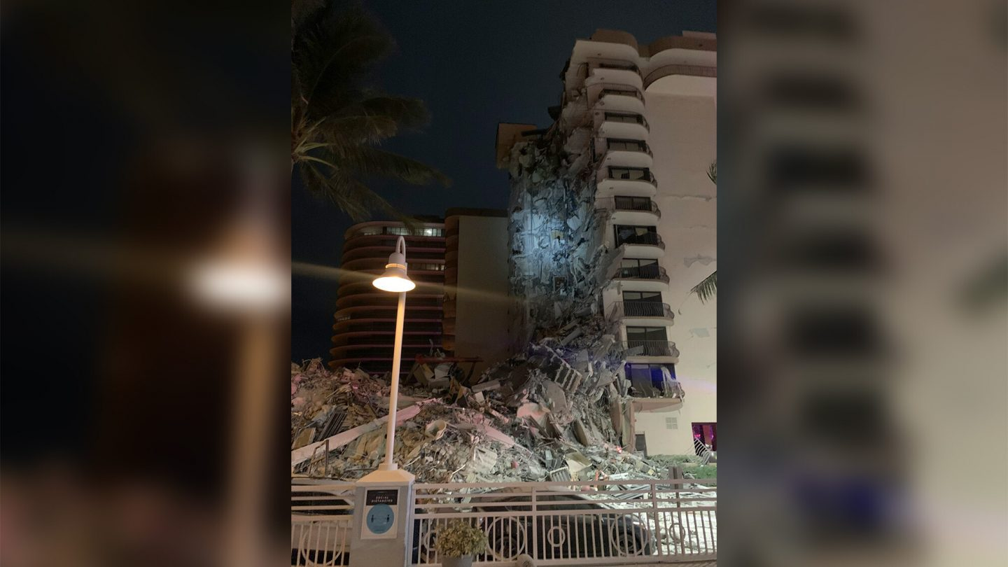 <i>Miami-Dade Fire Rescue</i><br/>Approximately 55 apartment units were impacted by the partial buidling collapse in Surfside
