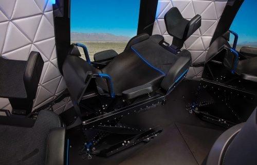 Seats in the New Shepard crew capsule