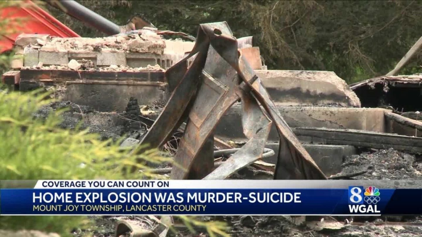 <i>WGAL</i><br/>Northwest Regional Police have ruled the death of a couple whose remains were found in a house explosion on Waldheim Road in Mount Joy Township a murder-suicide.