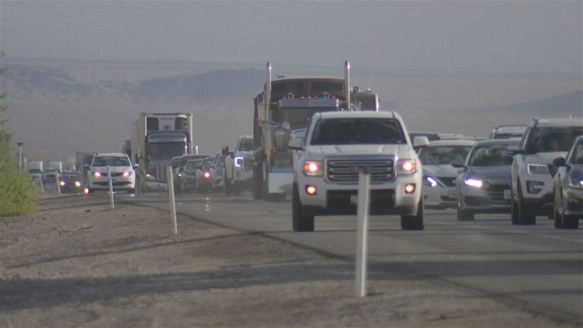 <i>KVVU</i><br/>Las Vegas Mayor Carolyn Goodman wants assistance from California to fix an I-15 bottleneck situation near the state line.