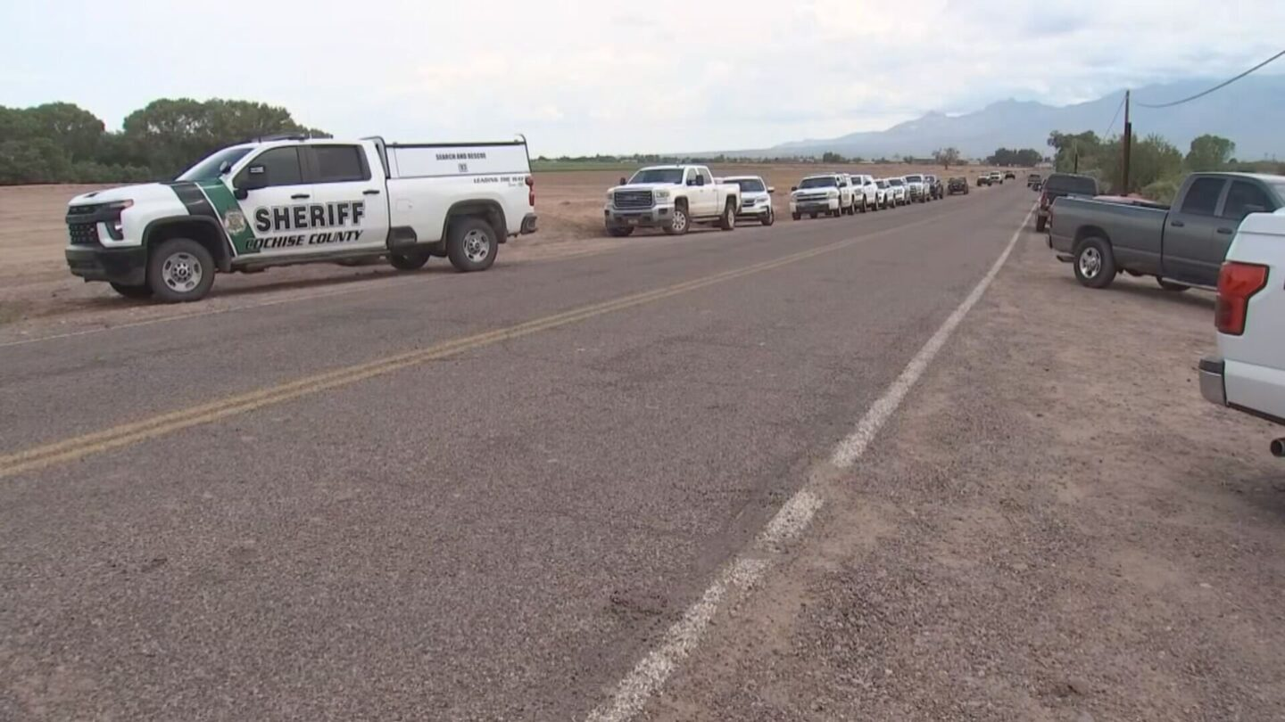 <i>KPHO/KTVK</i><br/>Multiple crews are responding to the Cottonwood Wash Bridge where a 4-year-old girl was in a car that reportedly was swept away during a flash flood Thursday night.