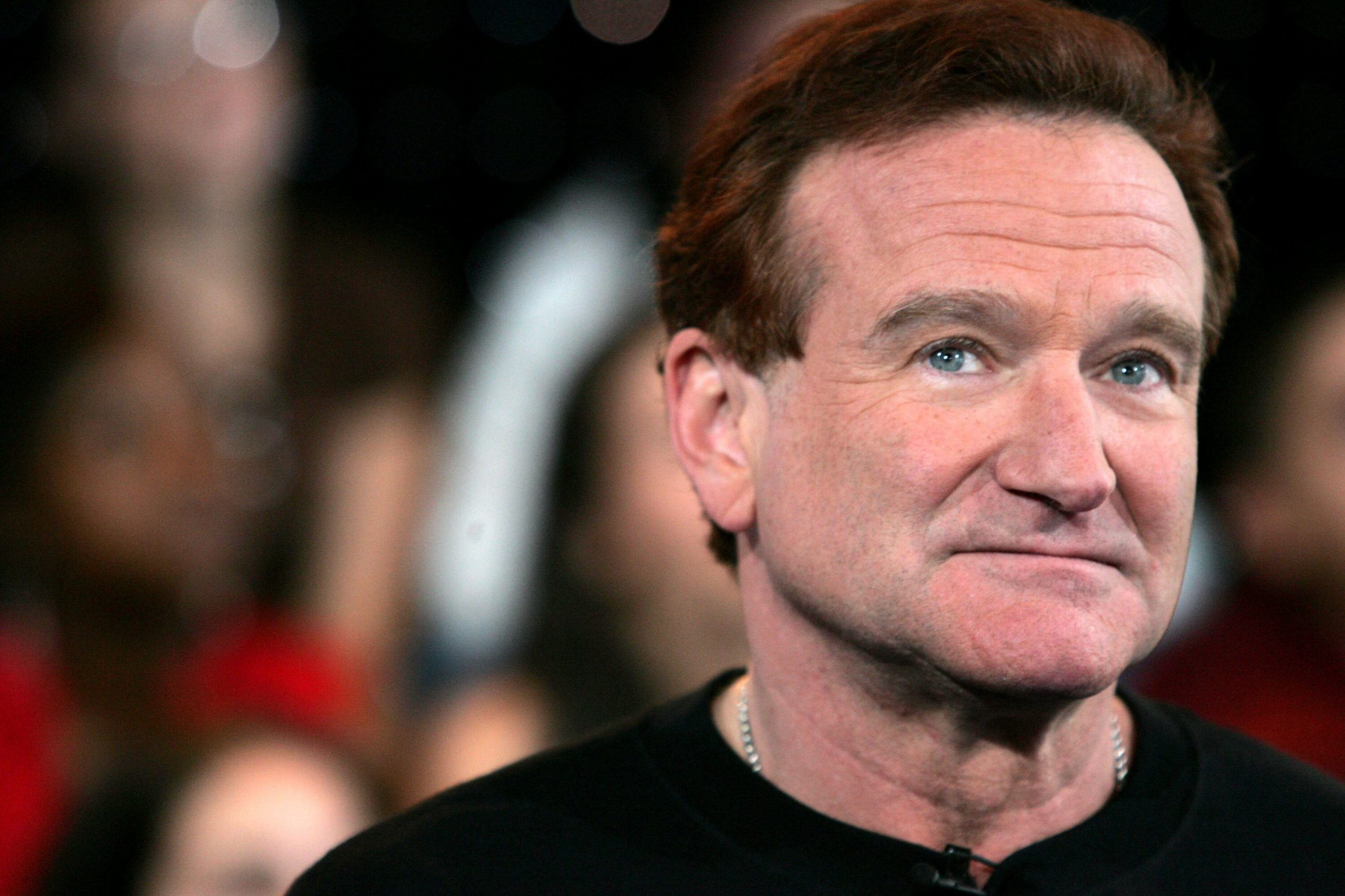 <i>Peter Kramer/Getty Images</i><br/>Actor Robin Williams appears onstage during MTV's Total Request Live at the MTV Times Square Studios on April 27