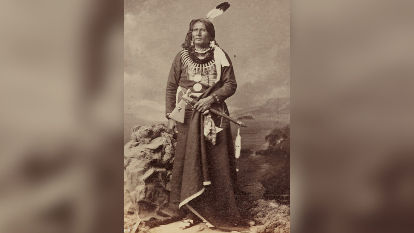 <i>Courtesy Brett Chapman</i><br/>Chief Standing Bear is pictured in an 1877 photo.