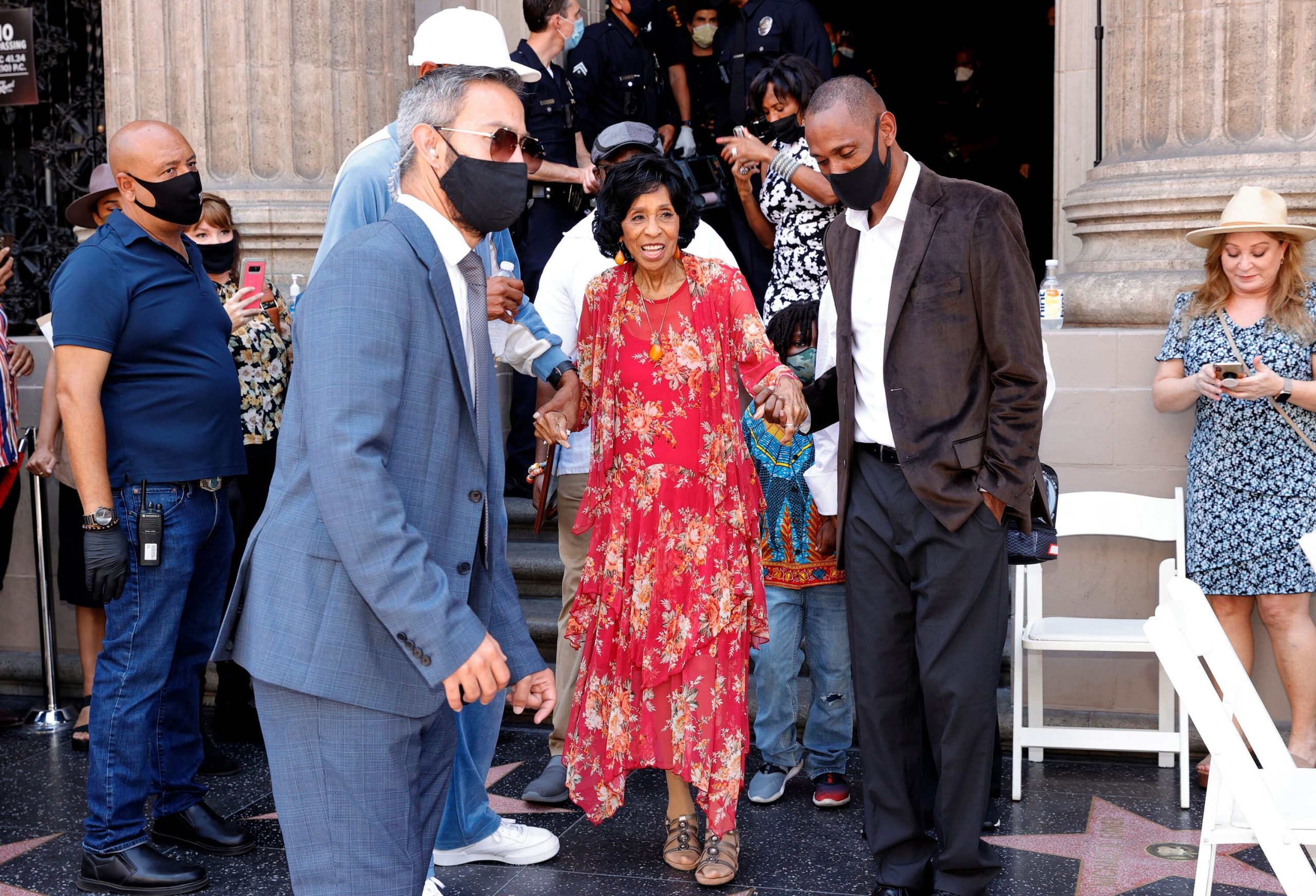 <i>Amy Sussman/Getty Images</i><br/>Marla Gibbs was honored July 20 with a star on the Hollywood Walk of Fame.
