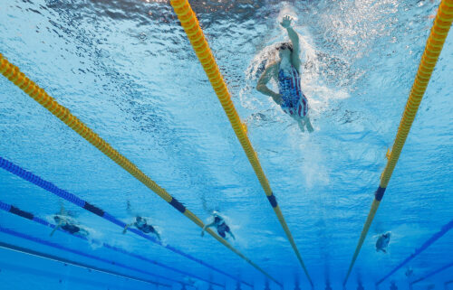 The Olympics swimming program continues Wednesday.
