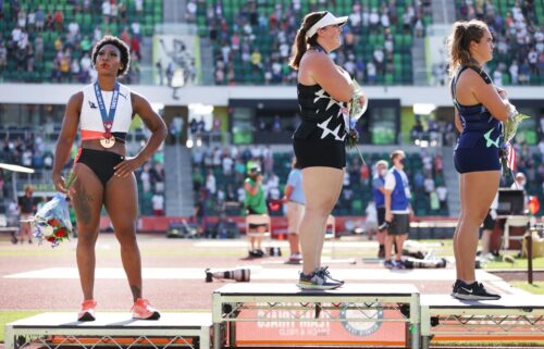 US athlete Gwen Berry