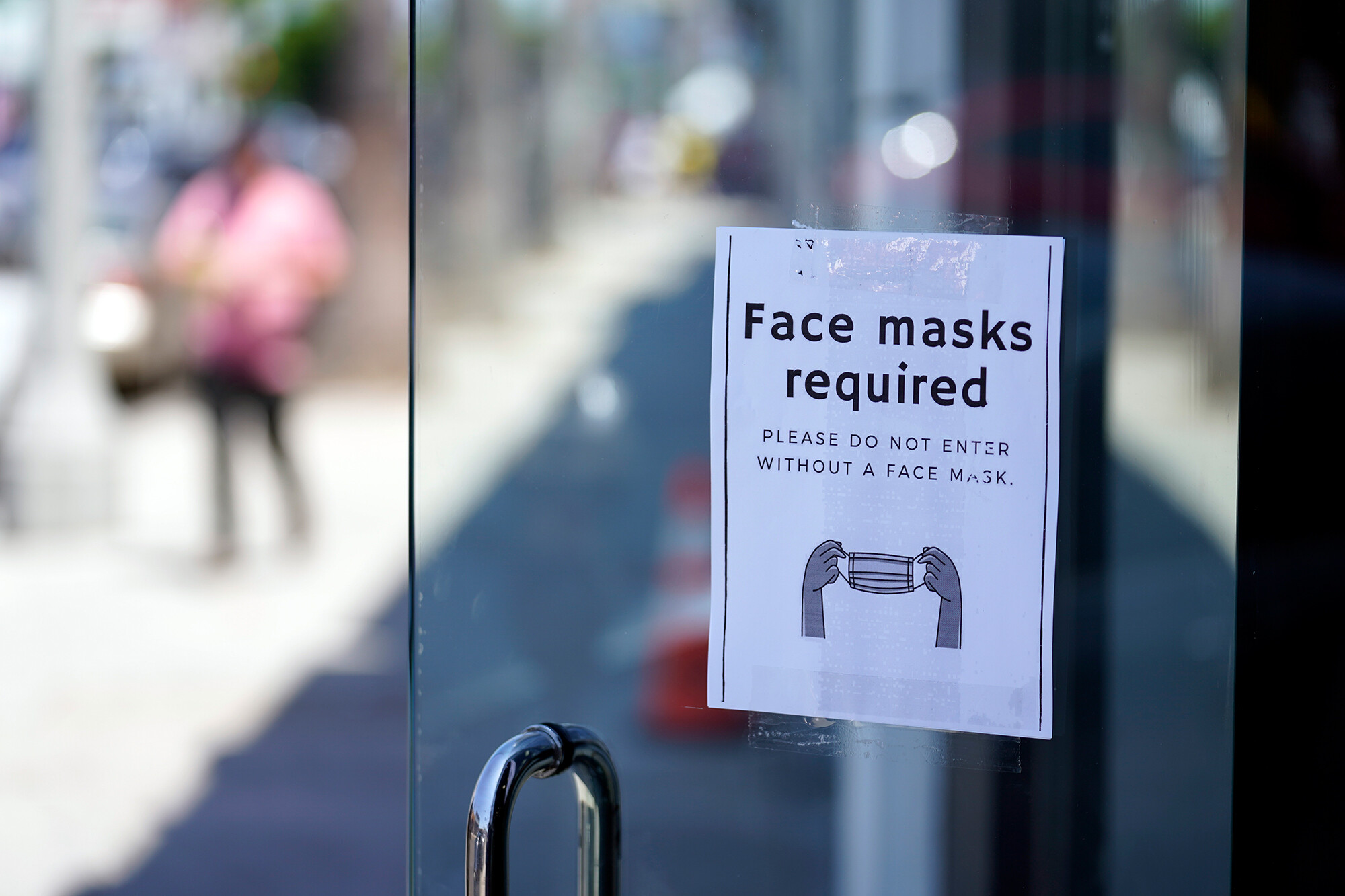 <i>Marcio Jose Sanchez/AP</i><br/>Health guidance issued July 27 recommends that fully vaccinated people wear masks indoors if they're in areas with