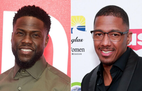 Kevin Hart (left) erected a billboard poking fun at Nick Cannon's prolific reproduction.