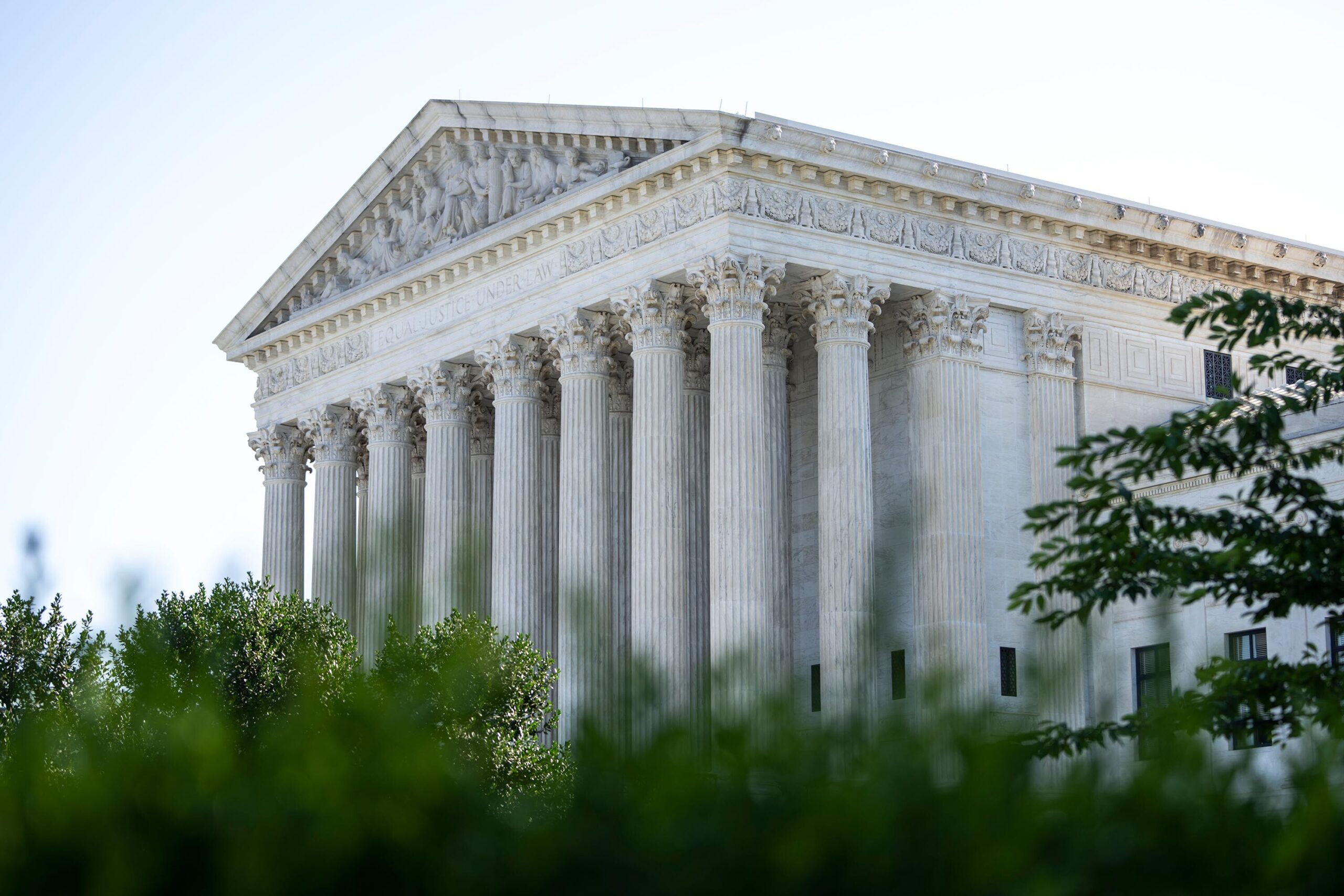 <i>Drew Angerer/Getty Images</i><br/>A view of the U.S. Supreme Court is shown on June 28 in Washington