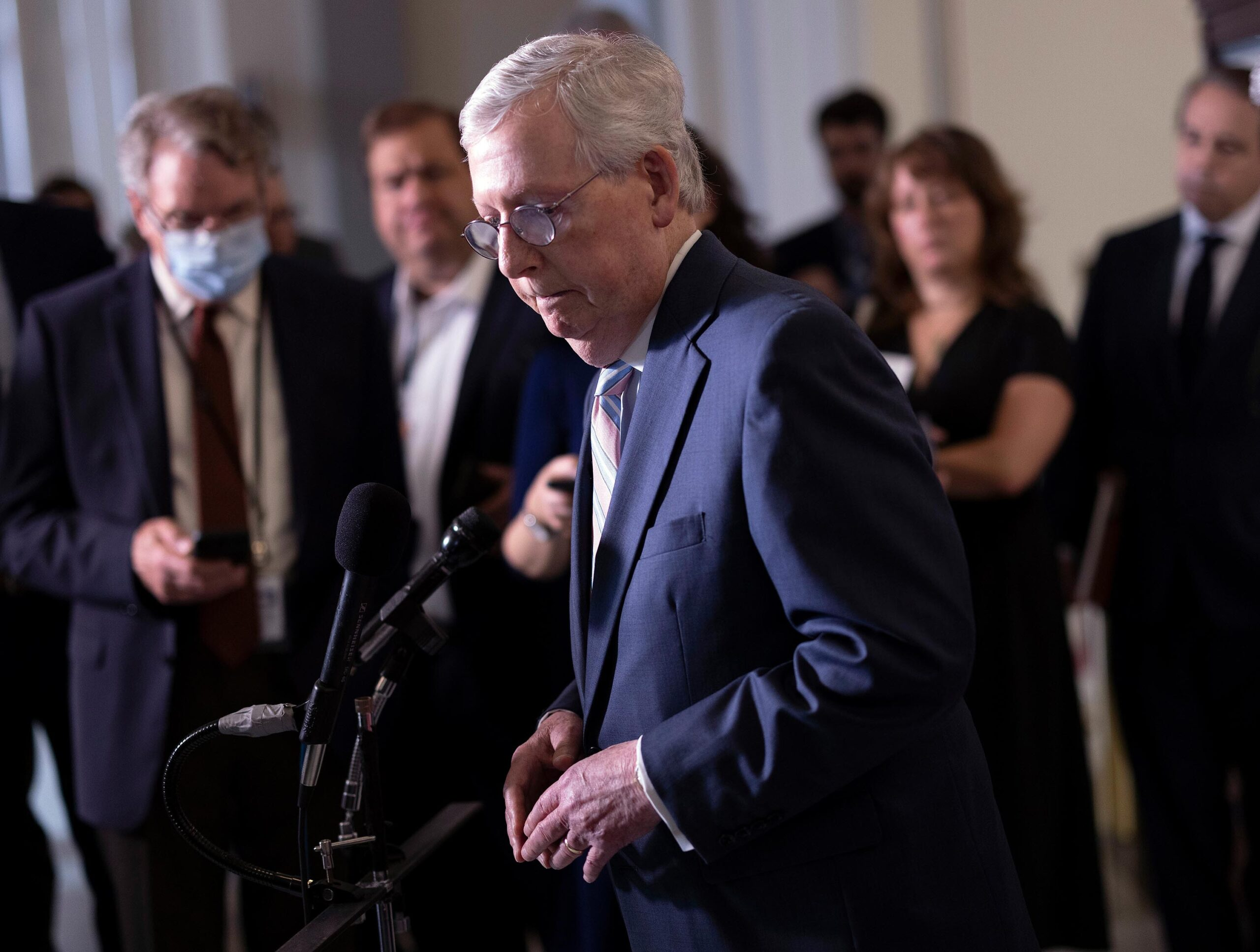 <i>Kevin Dietsch/Getty Images</i><br/>Senate Republican Leader Mitch McConnell is taking his coronavirus vaccine plea directly to his constituents.