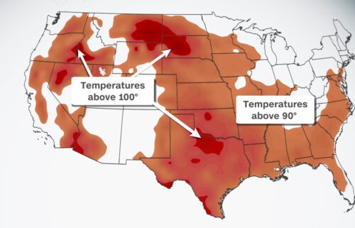 High temperatures are forecast to exceed 90 degrees across the country on July 26.
