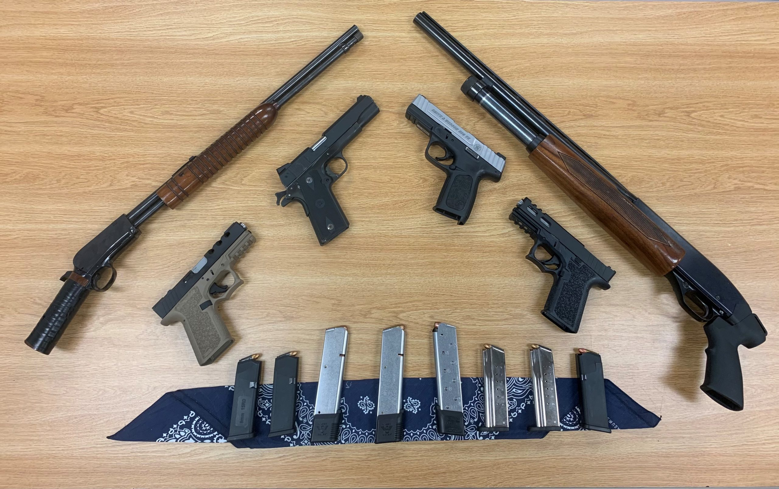 Two Oxnard men face possible illegal gun charges after law enforcement recovered multiple firearms from their homes