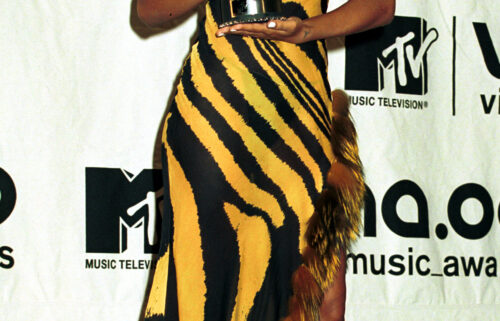 Aaliyah's estate releases a statement with a message to those who have tried to release unauthorized projects about the late star. Aaliyah is seen here at the 2000 MTV Video Music Awards.