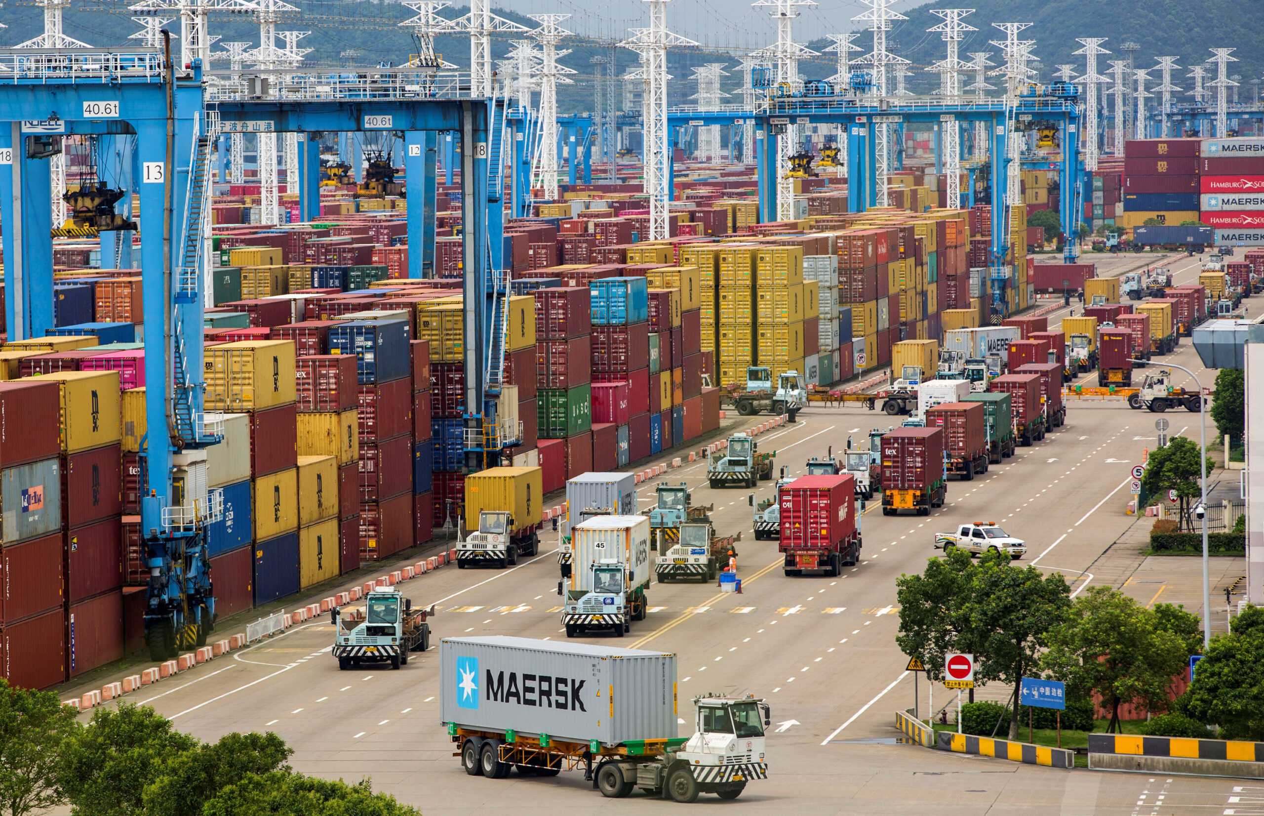 <i>Suo Xianglu/Xinhua/Getty Images</i><br/>The world's third busiest container port