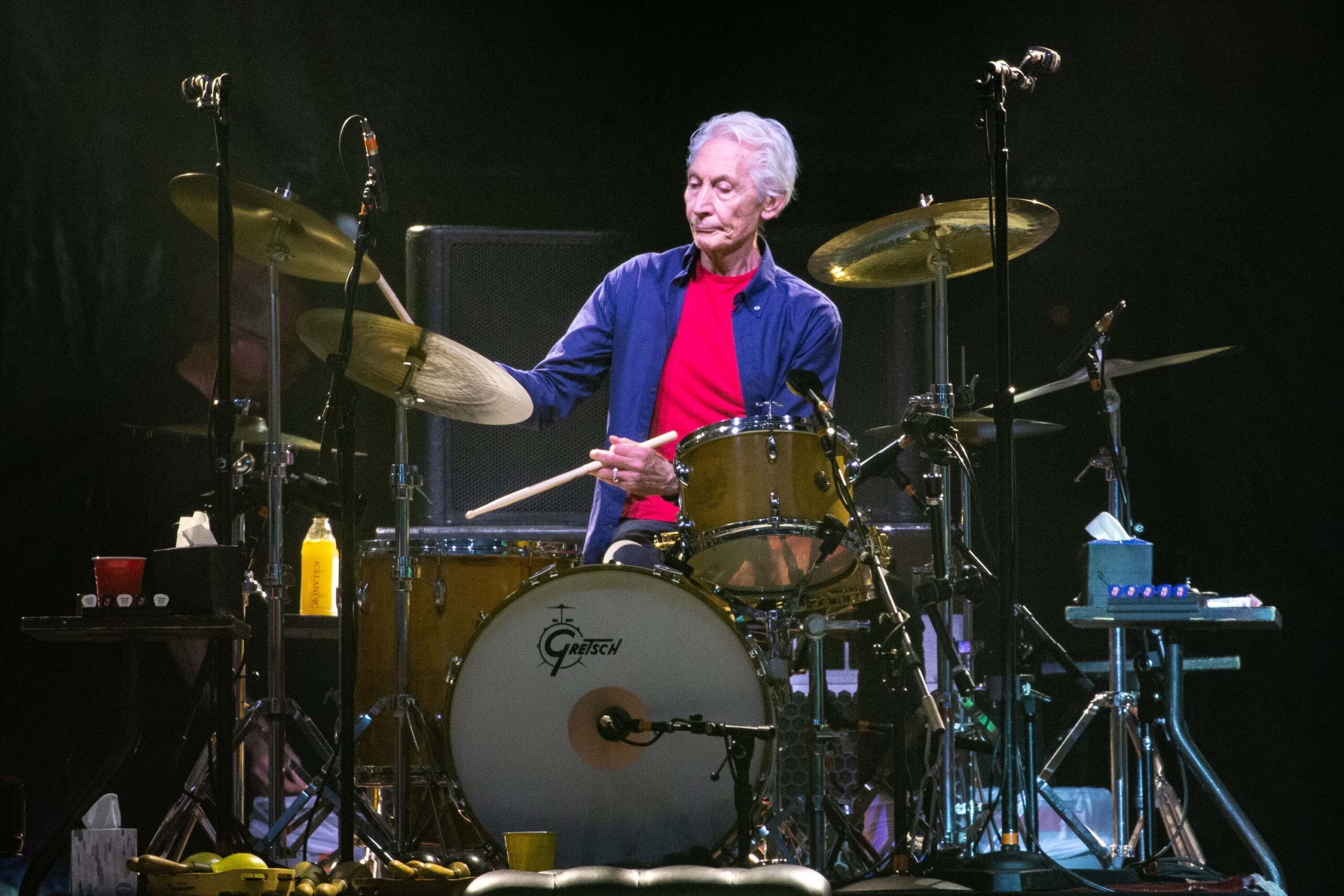 <i>Suzanne Cordeiro/AFP/Getty Images</i><br/>The Rolling Stones drummer Charlie Watts