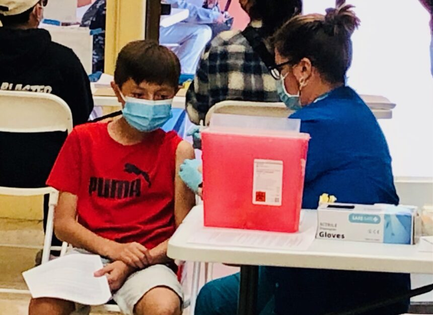 12-Year-old getting COVID19 vaccine
