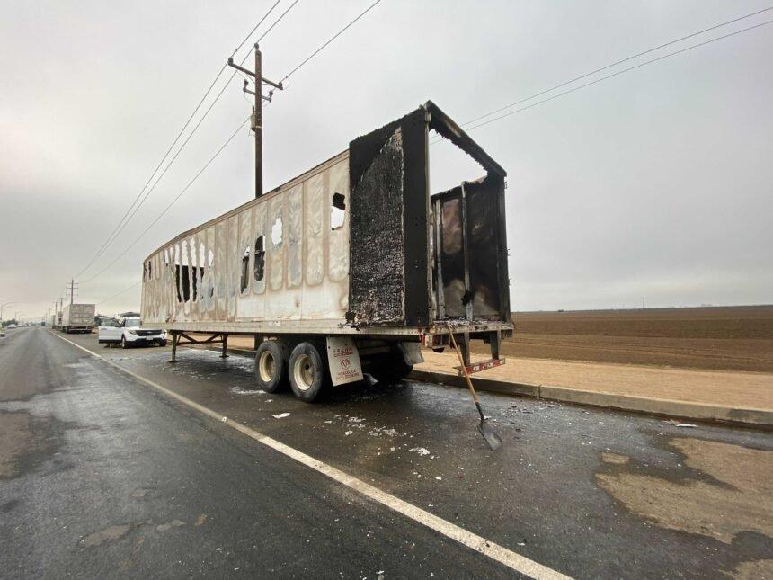 santa maria truck trailer fire 2