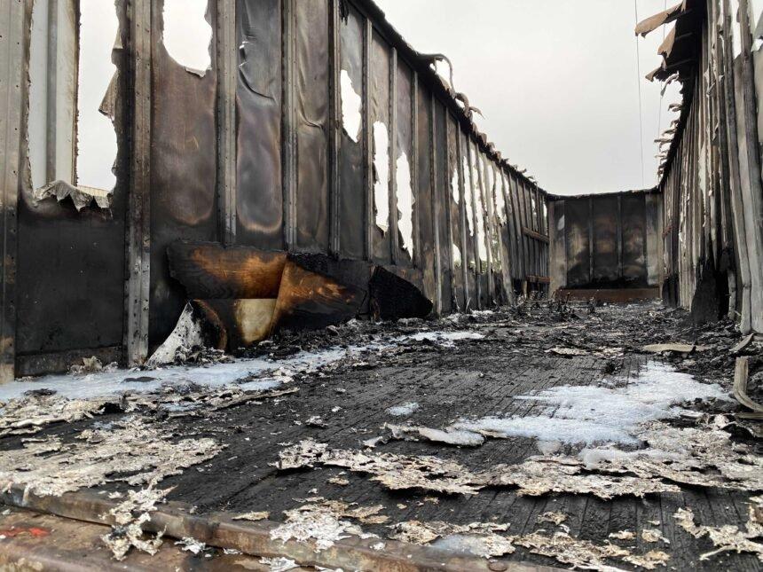 santa maria truck trailer fire 1