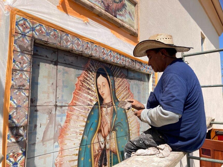 Lalo Garcia.OLG Mural.Padre Serra 2. 2021
