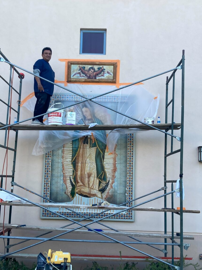 Lalo Garcia.OLG Mural.Padre Serra3. 2021