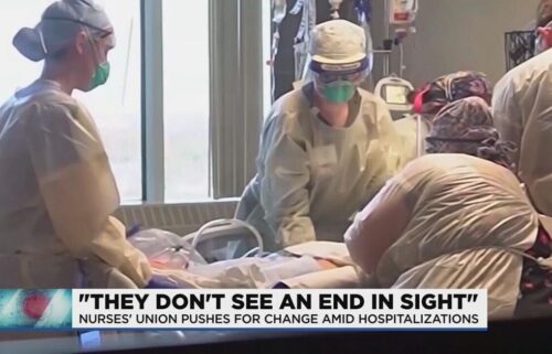 A surge of coronavirus hospitalizations and a shortage of staff is putting frontline workers at the end of their rope. A problem that may push one nurse's union to go on strike.
