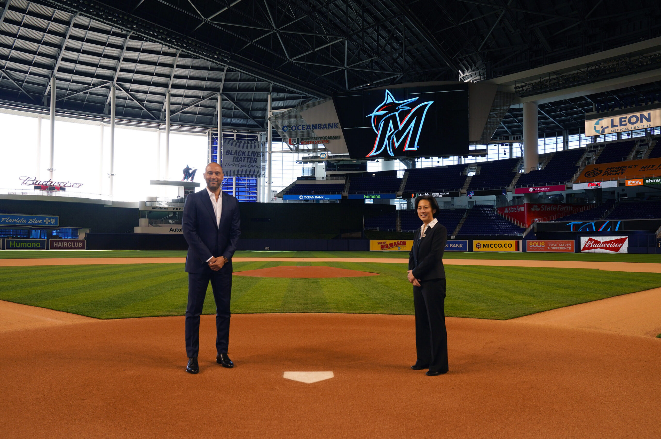 <i>Joseph Guzy/Miami Marlins Handout Photo/USA Today Sports</i><br/>Miami Marlins CEO Derek Jeter says Kim Ng was his first and only call when his team needed a new general manager.