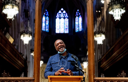"""The Washington National Cathedral announces that its commissioned renowned artist Kerry James Marshall to create """"racial-justice themed windows"""" that will replace windows the church removed in 2017 that memorialized Confederate Gens. Robert E. Lee and Thomas """"Stonewall"""" Jackson."""