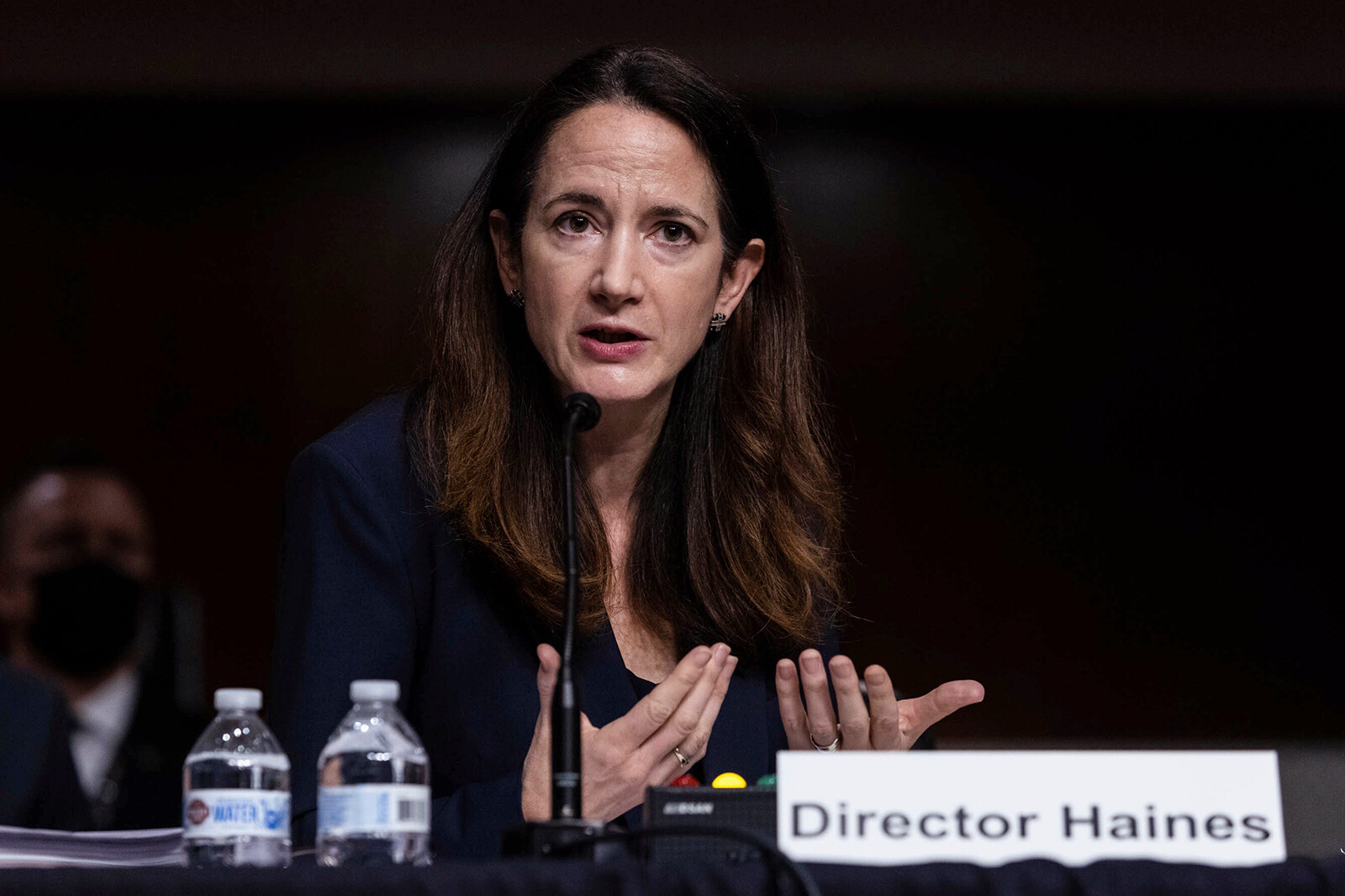 <i>Graeme Jennings/Pool/AP/FILE</i><br/>Director of National Intelligence Avril Haines testifies during a Senate Armed Services Hearing to examine worldwide threats on Capitol Hill