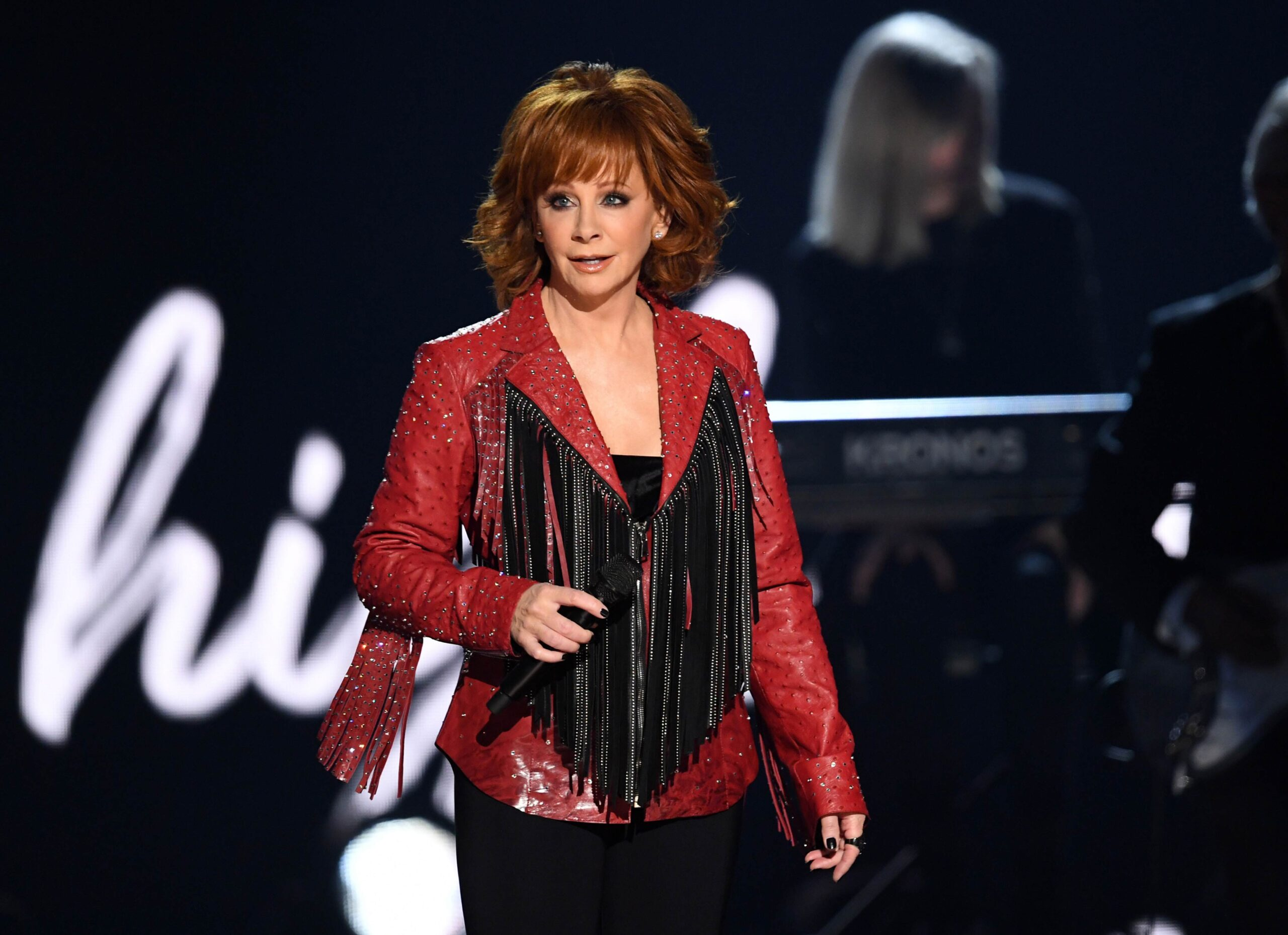 <i>Kevin Winter/Getty Images</i><br/>Reba McEntire expressed gratitude to the fire and police departments in Atoka